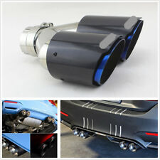 Durable 63mm Inlet 89mm Real Carbon Fiber Car Dual Exhaust Pipe Tail Muffler Tip