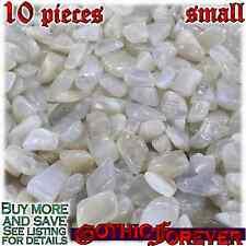 10 Small 10mm Combo Ship Tumbled Gem Stone Crystal Natural - Moonstone