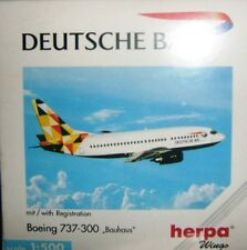 BOEING 737-300 BAUHAUS DEUTSCHE BA scala 1/500 HERPA (511490)