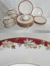 Royal Doulton China Red and Gold Winthrop Dinnerware Set
