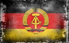 "Kühlschrankmagnet,Magnetschild Motiv Flagge ""DDR"",shabby,chic,alt,abgenutzt"