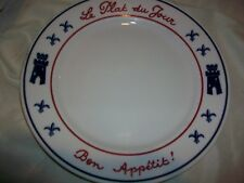 Restaurant Ware Le Plat du Jour Bon Appetit Dinner Plate Dish of the Day