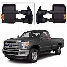 99-16 Ford F250 Super Duty Towing Manual Mirrors Pair Side Tower NO Amber Light