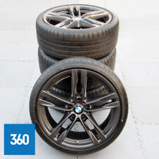 "GENUINE BMW 5 6 SERIES 20"" 373 M SPORT DOUBLE SPOKE ALLOY WHEELS TYRES TPMS"