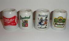 New listing Lot of 4 Mini Mugs - Miller -Pilsner Urquell - Octoberfest - Wurzburger (C)