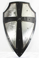 Hand-Forged Gothic LAYERED STEEL CROSS SHIELD Medieval Battle Armor sca/larp t2