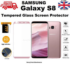 Full Coverage Tempered Glass Screen Protector for Samsung Galaxy S8 Rose Pink
