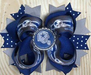 Dallas Cowboys Football Hair Bow with Free Shipping