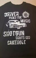 Driver Picks The Music unisex T Shirt Supernatural Winchester Brothers