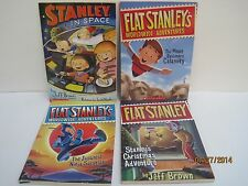 Flat Stanley Books by Jeff Brown, Lot of 4 Books