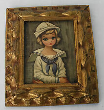 "Vintage Frames 1960's PAINTING by EDEN ""Four Small Ones"" Sailor Girl"