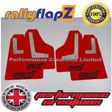 Mudflaps SUBARU IMPREZA Hatch 08-14 Qty4 rallyflapZ 4mm PVC Red STi style Black