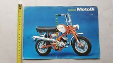 MOTOBI Minibike 50 1974 depliant ciclomotore originale moped brochure bromfiet