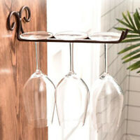 Wine Glass Rack Wall Mounted Stand Goblet Cup Shelf Holder Storage Home Kitchen