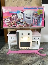 White Pink Barbie Bake with Me Oven in Box w/ Pusher