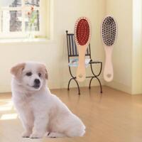 Double Side Bristle & Pin Pet Dog Cat Hair Grooming Brush Fur Shedding Tool MA