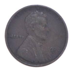 Semi Key 1922-D VF/XF Lincoln Wheat Cent - Sharp *546