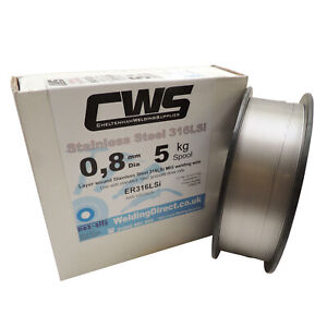 Stainless Steel MIG Welding Wire 316LSi 5kg 0.8mm Layer Wound. Free Delivery