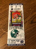2006 Michigan State Notre Dame Fighting Irish Football Club Ticket Stub