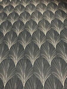 Deco Fan Furnishing Fabric, Indigo 2 x 2340mm pieces 100% polyester