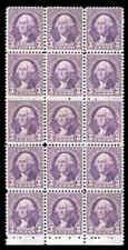 WASHINGTON # 720 Block 15 Stamps 1932 US President MNG
