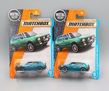 2017 Matchbox '90 Volkswagen Golf Country - No. 4 - Metallic Aqua - Set of 2