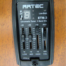 ARTEC ETN-3 PRE AMP EQ SYSTEM WITH TUNER AND PIEZO PICKUP FOR ACOUSTIC GUITAR