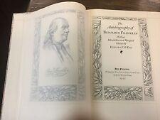 Autobiography Benjamin Franklin Limited Edition Club 1931 Signed John Henry Nash