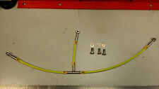 YELLOW DUCATI 748 HEL BRAIDED LINE OIL COOLER HOSE
