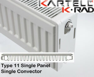 Kartell K-Rad Single Panel Type 11 Compact Radiator 300mm High