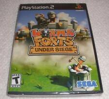 PS 2 Worms Forts under Siege video game Factory Sealed