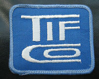 "TIF ~ CO EMBROIDERED SEW ON PATCH TOOLS ADVERTISING COMPANY 2 7/8"" x 2 1/2"""