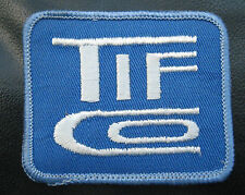 """TIF ~ CO EMBROIDERED SEW ON PATCH TOOLS ADVERTISING COMPANY 2 7/8"""" x 2 1/2"""""""