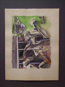 MILIVOJ UZELAC Les Joies du Sport CORSA, litografia e pochoir, 1932 - atletica