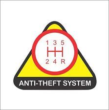 Anti Theft System 5 Speed Funny Bumper Window Vinyl Sticker LOL JDM Civic Supra