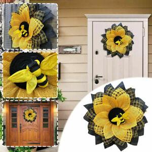 Bee Sunflower Wreath NEW