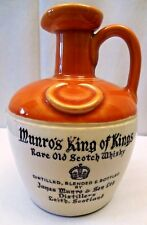 VINTAGE MUNRO'S KING OF KINGS OLD SCOTCH WHISKEY JUG BOTTLE RARE COLLECTIBLES