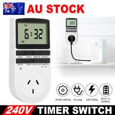 240V Digital Timer Switch Socket Electric Programmable Power AU Plug Controller