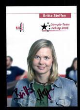 Britta Steffen Autogrammkarte Original Signiert Schwimmen + A 151473