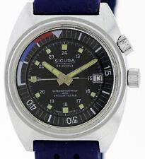 Sicura Breitling Grenchen Superwaterproof 400 Vintageuhr Datum,23 Jewels