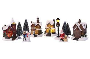 Weihnachtsstadt Schnee Haus Winter Weihnachtsdorf Deko Weihnacht Weihnachtshaus