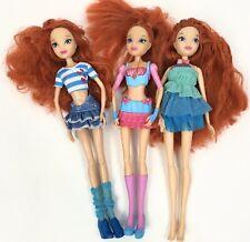 Winx Club Doll Bloom Fairy Enchantix Lot Of 3 Redhead Fairies 2012 Jakks