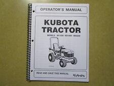 Kubota BX1500 BX1830 BX2230 BX 1500 1830 2230 tractor owners & maintenanc manual