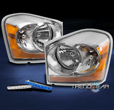 2004-2005 DODGE DURANGO CRYSTAL REPLACEMENT HEADLIGHT LAMP CHROME W/BLUE DRL LED