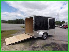 7x10 2 ft v nose 12 inside cargo enclosed Motorcycle Package 2 bike trailer New