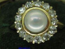 Pearl Gold Fine Diamond Rings