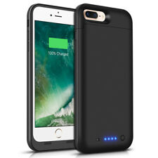 For iPhone 7 Plus Battery Case 7000mAh Ultra Slim Extended Batery Backup Black