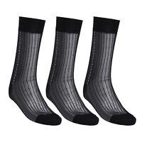 Men's 3 Pairs Sheer Ultra thin Breathable Silk Summer Dress Business Socks