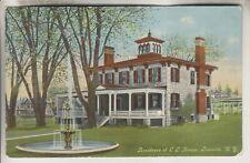 1913 POSTCARD - RESIDENCE OF C.L. KNAPP - LOWVILLE NEW YORK