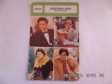 CARTE FICHE CINEMA CHRISTIAN CLAVIER période 1986 - 1998